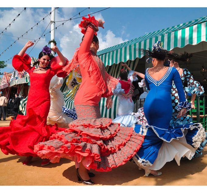 Dancing in Seville Fair